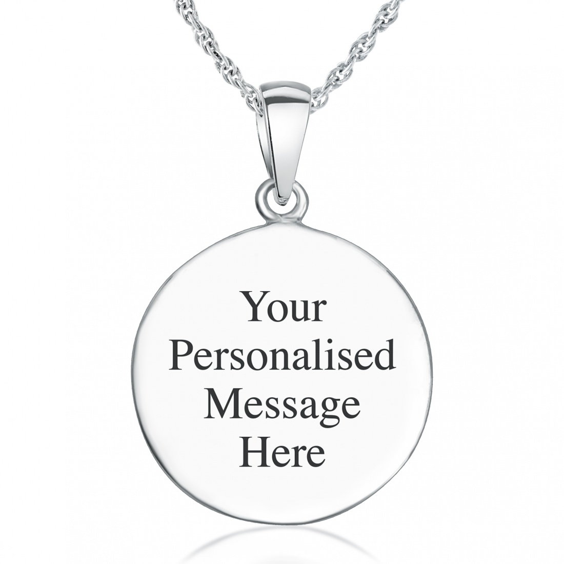 Holy Communion Necklace, Personalised, Sterling Silver
